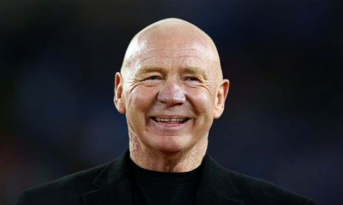 Former rugby league great and one of the rugby league Immortals, Bob Fulton, looks on at half-time during the 2012 NRL Grand Final match between the Melbourne Storm and the Canterbury Bulldogs at ANZ Stadium in Sydney, Australia, on Sept. 30, 2012. (Mark Kolbe/Getty Images)