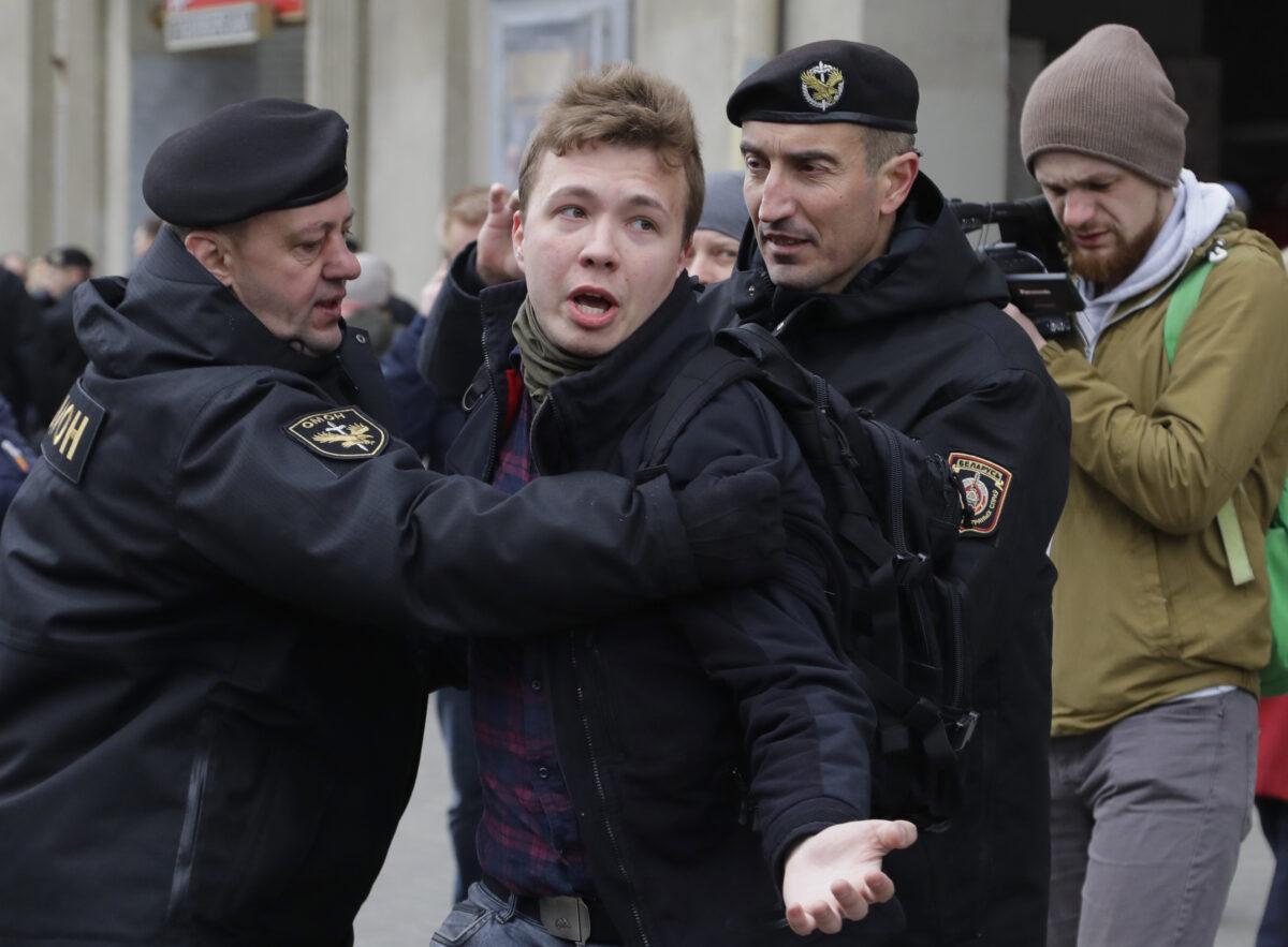 Belarus police detain journalist Raman Pratasevich