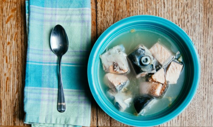Melanie Brown's salmon soup. (Misha Dumov, MB Commercial Photography)