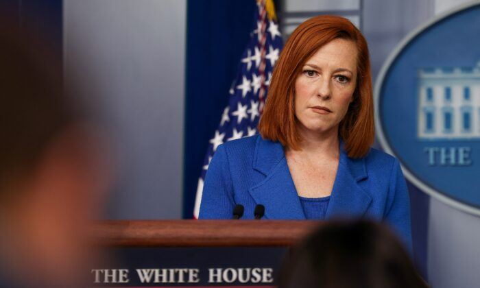 Press Secretary Jen Psaki holds a press briefing at the White House in Washington, U.S. May 24, 2021. (Evelyn Hockstein/Reuters)