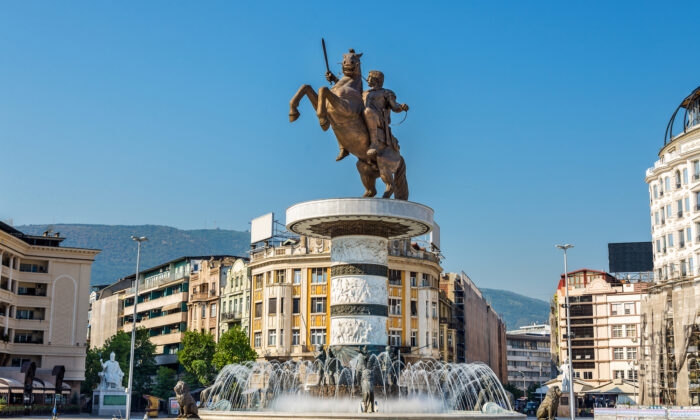 A statue of Alexander the Great in Skopje. (Leonid Andronov/Shutterstock)