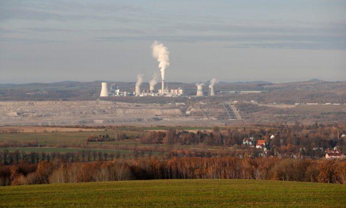 The Turow lignite coal mine and Turow power plant near the town of Bogatynia, Poland, on Nov. 19, 2019. (Petr David Josek/AP Photo)