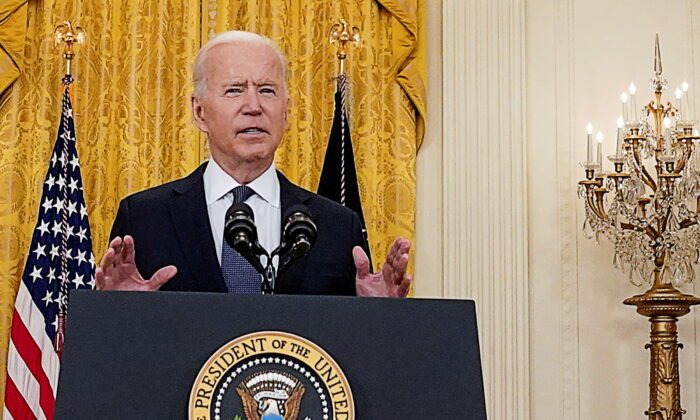 U.S. President Joe Biden delivers remarks on the U.S. economy in the East Room at the White House on May 10, 2021. (Kevin Lamarque/Reuters)