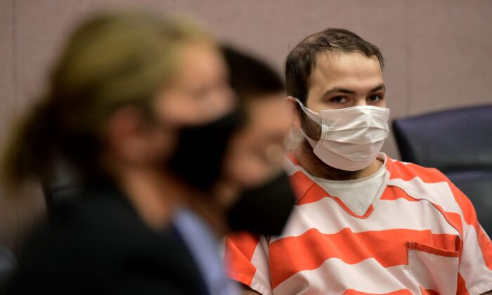 Ahmad Al Aliwi Alissa appears in a Boulder County District courtroom in Boulder, Colo., on May 25, 2021. (Matthew Jonas/Boulder Daily Camera via AP, Pool)