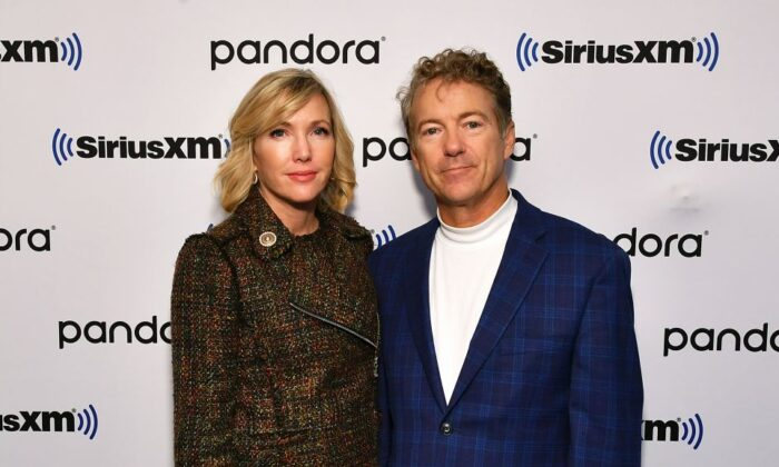 Sen. Rand Paul (R-Ky.) and wife, author Kelley Paul, visit SiriusXM for a Town Hall with Olivier Knox and Julie Mason in New York City, on Oct. 11, 2019. (Slaven Vlasic/Getty Images for SiriusXM)