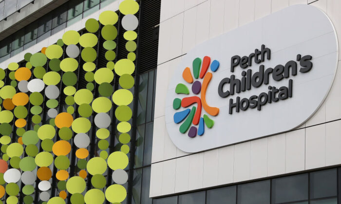 A general view of the Perth Children's Hospital in Perth, Australia, on Apr. 20, 2020. (Photo by Paul Kane/Getty Images)