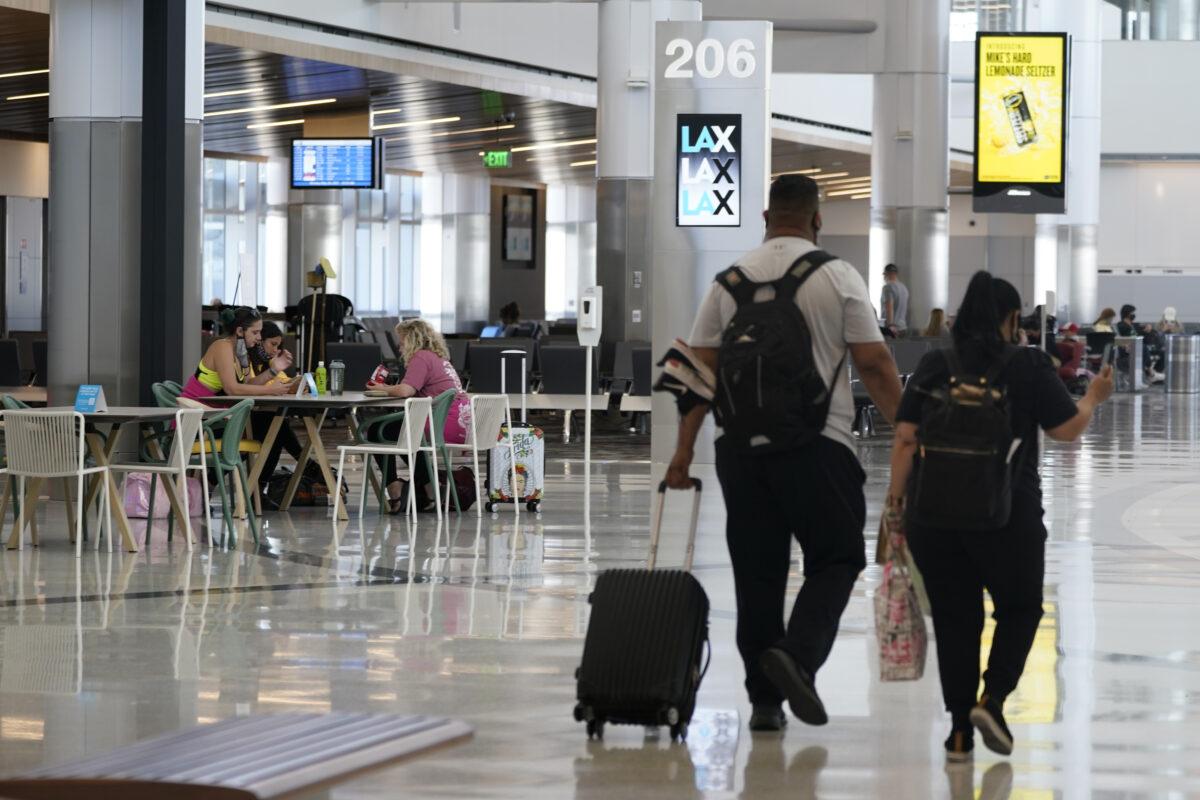 Passengers at Los Angeles International Airport