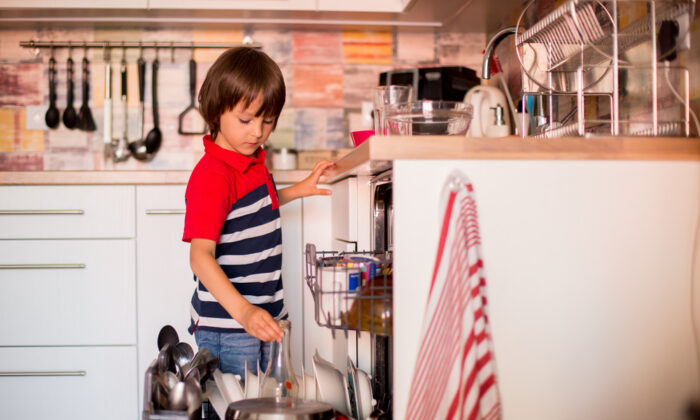 Through household chores, children learn habits they will carry for a lifetime. (Tomsickova Tatyana/Shutterstock)