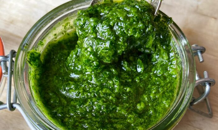 Since you don't need a specific recipe, every herb sauce is one-of-a-kind. (Amelia Rampe/TNS)