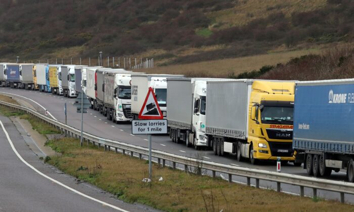 The impact of Brexit on trading with Europe has been laid bare by official figures showing that UK trade in goods with EU countries has plunged by nearly a quarter over the past three years. (Gareth Fuller/PA)