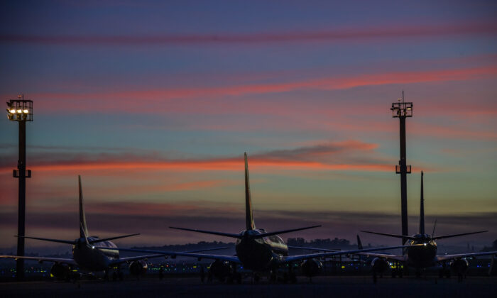 Guarulhos International Airport, in Guarulhos, near Sao Paulo, Brazil, on Dec. 3, 2020. (By Nelson Almeida/AFP via Getty Images)