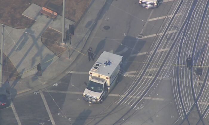 Police respond to a shooting in San Jose, Calif., on May 26, 2021. (Courtesy of KGO)