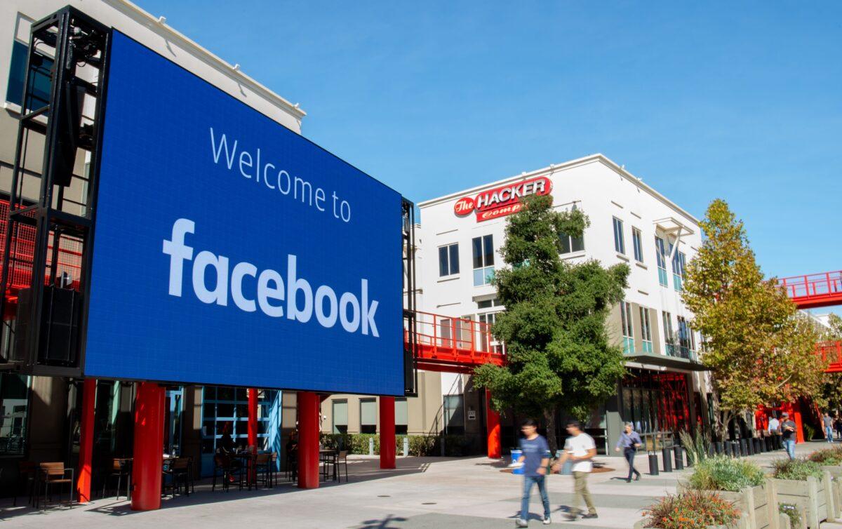 Facebook's giant digital sign