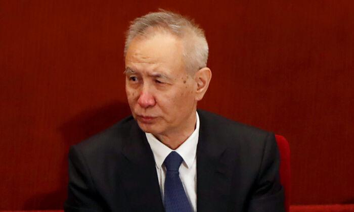 Chinese Vice Premier Liu He in Beijing, China, on May 21, 2020. (Carlos Garcia Rawlins/Reuters)