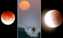 Unreal Photos Show 'Super Blood Moon' During Total Lunar Eclipse Across the Pacific