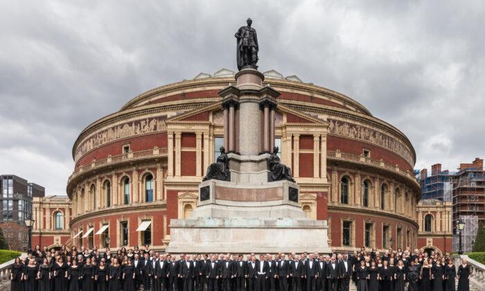 Royal Choral Society in front of the Royal Albert Hall, London, UK, in 2014. (Royal Choral Society)