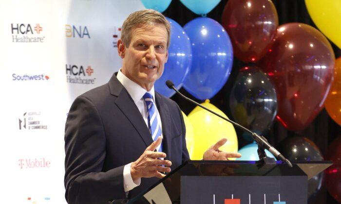 Tennessee Governor Bill Lee in Nashville, Tenn., on Jan. 18, 2021. (Jason Kempin/Getty Images)