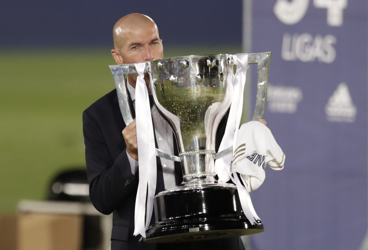 Real Madrid's head coach Zinedine Zidane