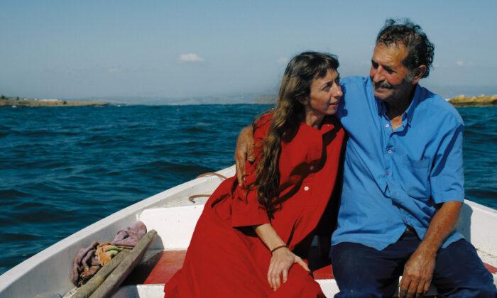 Chef and cookbook author Marianna Leivaditaki (L) with her husband. (Elena Heatherwick)
