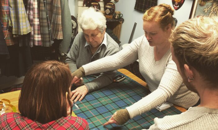 Hand-sewn kilt makers work together at The Kiltmakery in Edinburgh, Scotland. (The Kiltmakery & Scotclans)