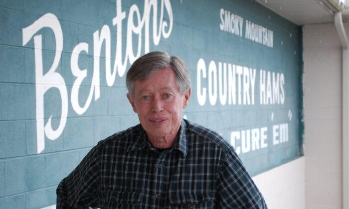 Allan Benton outside Benton's Smoky Mountain Country Hams in 2014. (Sara Wood/Southern Foodways Alliance)