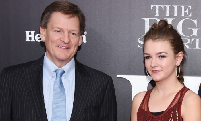 """(L-R) Michael Lewis and Dixie Lewis attend the premiere of """"The Big Short"""" at Ziegfeld Theatre, New York City, on Nov. 23, 2015. (Dimitrios Kambouris/Getty Images)"""