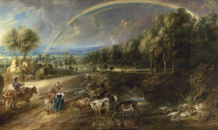 """""""The Rainbow Landscape,"""" circa 1636,by Peter Paul Rubens. (Trustees of The Wallace Collection, London)"""