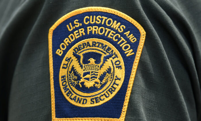 A U.S. Customs and Border Protection patch is seen on the arm of a U.S. Border Patrol agent in Mission, Texas, on July 1, 2019. (Loren Elliott/Reuters)