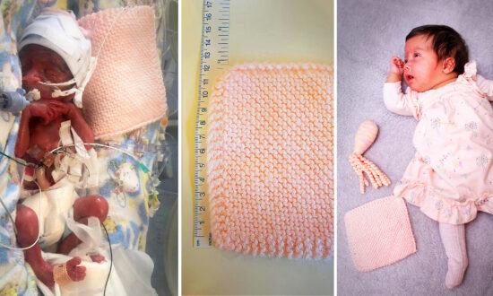 Mom Shares Startling Before and After Photos of Preemie With Favorite Blankie—Now Thriving