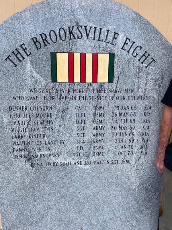 """""""The Brooksville Eight"""" monument"""