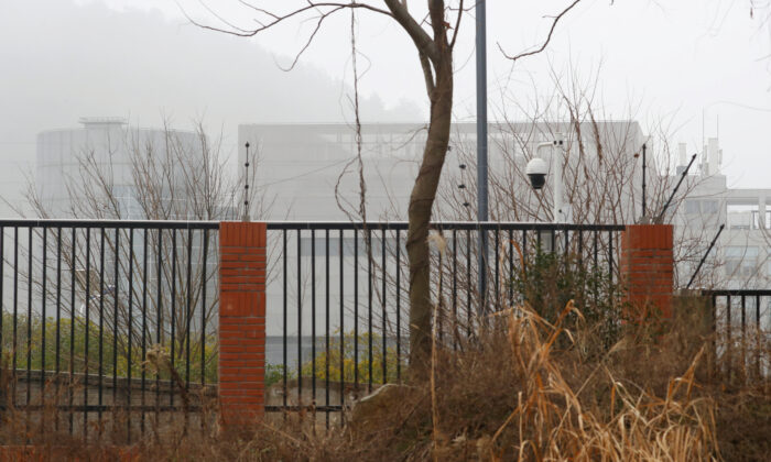 The P4 laboratory of Wuhan Institute of Virology is seen behind a fence during the visit by the World Health Organization (WHO) team tasked with investigating the origins of the coronavirus disease (COVID-19), in Wuhan, Hubei province, China, on Feb. 3, 2021. (Thomas Peter/Reuters)