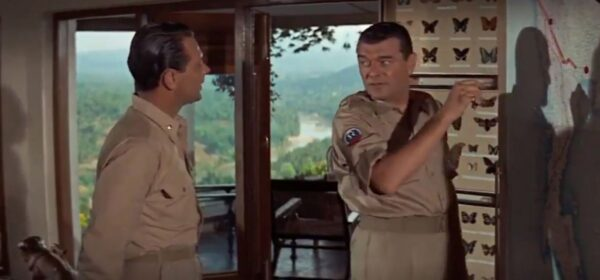 William Holden and Jack Hawkins in Bridge on the River Kwai
