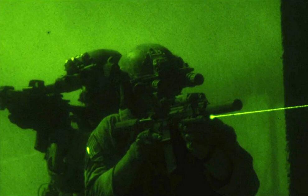 Navy SEALS using night vision goggles in Zero Dark Thirty