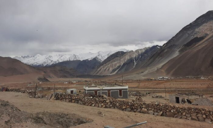 Yourgo village in Chushul in eastern Ladakh, ten kilometers from Pongong Tso lake where India-China faced an intense standoff until  February. The border villages don't have internet and this has made things difficult for the population during lockdown. (Courtesy Kunchok Stanzin)