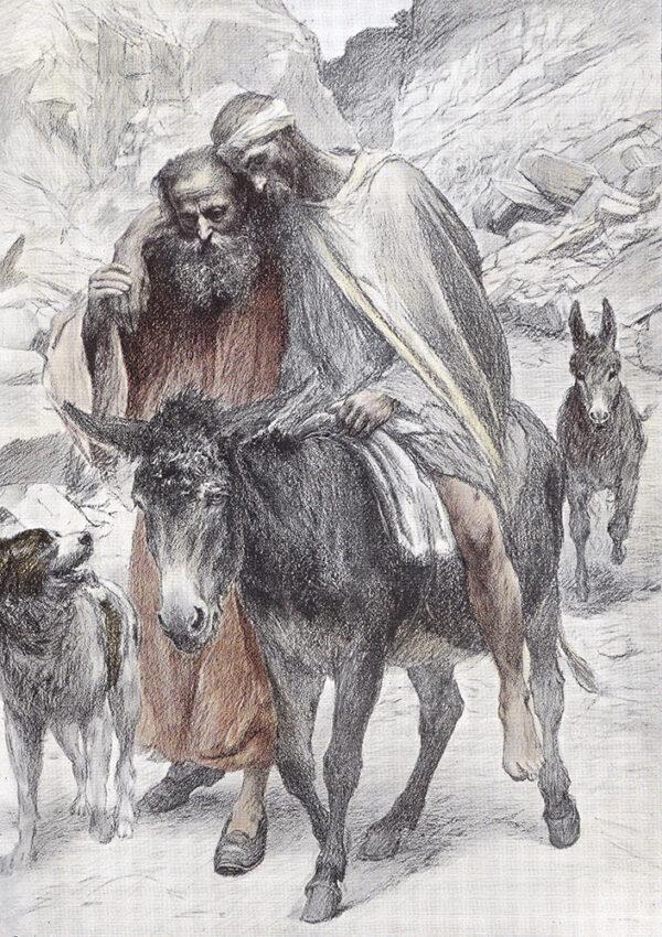 """The Good Samaritan,"" an illustration by Eugène Burnand"