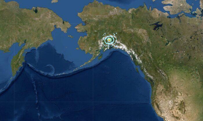 A 6.1 magnitude earthquake hit Alaska on May 30, 2021. (Screenshot/USGS)