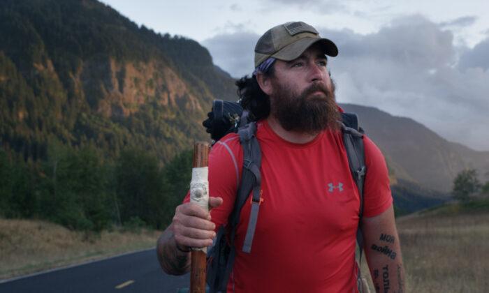 Marine Corps veteran Jon Hancock on his 5,800-mile journey. (Bastards' Road)
