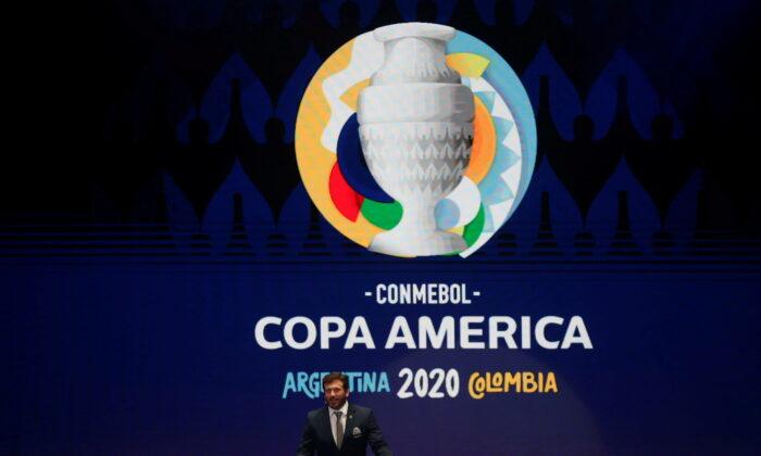 CONMEBOL President Alejandro Dominguez during the Copa America Argentina-Colombia 2020 Draw in Cartagena, Colombia, on Dec. 3, 2019. (Luisa Gonzalez/Reuters)