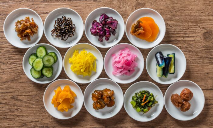 There are hundreds of varieties of tsukemono, spanning a wide range of ingredients, pickling method, color, taste, and texture. (norikko/shutterstock)