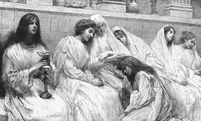 """Fox News Channel anchor Shannon Bream aims to give a voice to the women of the Bible. An illustration of the """"Parable of the 10 Virgins,"""" by Eugene Burnand,  from his 1908 """"The Parables"""" published by Berger-Levrault. (PD-US)"""