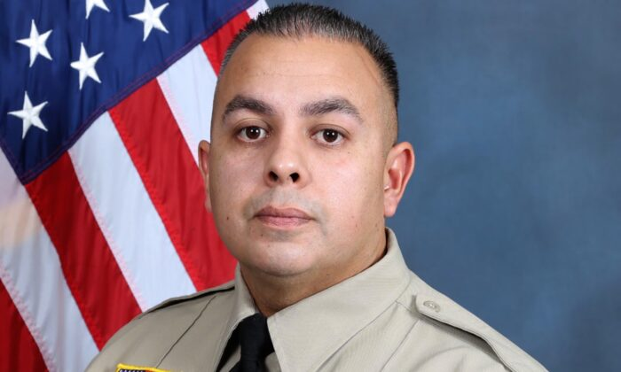 Sergeant Dominic Vaca, 43,  a 17-year veteran of the San Bernardino County Sheriff's Office and a sergeant at the Morongo Basin Station. (Courtesy of San Bernardino County Sheriff's Office)