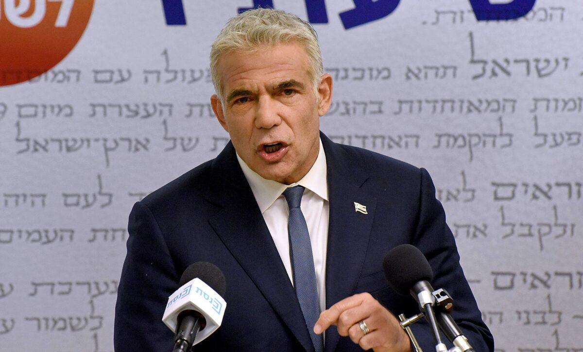 Israel's centrist opposition leader Yair Lapid