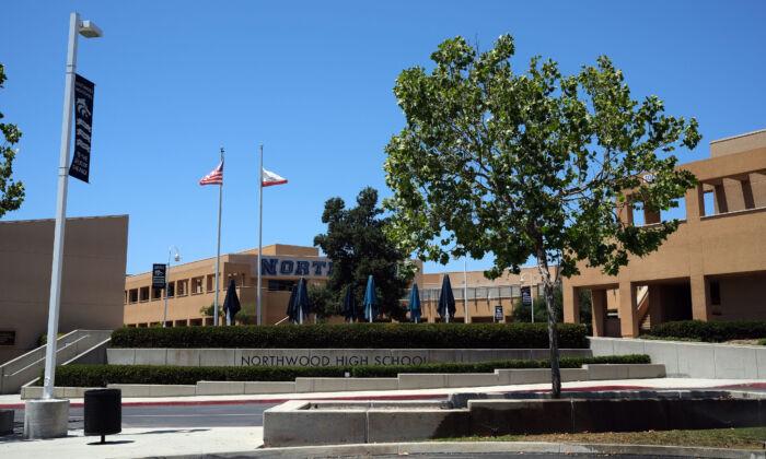 Northwood High School in Irvine, Calif., on June 2, 2021. (John Fredricks/The Epoch Times)