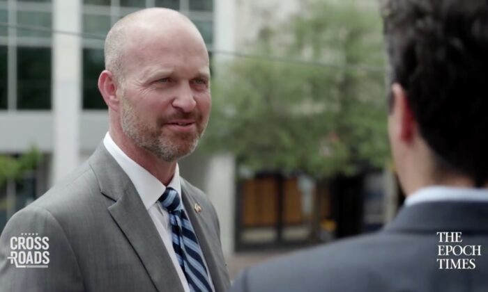 Texas Public Policy Foundation CEO, Kevin Roberts, in an interview published on June 1, 2020. (Screenshot via Epoch TV)