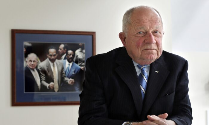 Famed defense attorney F. Lee Bailey poses in his office in Yarmouth, Maine, on May 22, 2014. (Robert F. Bukaty/AP Photo)