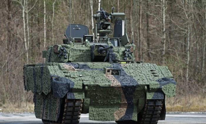 Undated photo of the AJAX (AFV) armoured fighting vehicle. (Richard Watt/PA)
