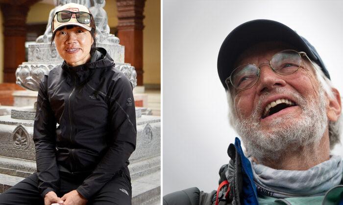 Left: Hong Kong mountaineer Tsang Yin-hung. (Prakash Mathema/AFP via Getty Images); Right: American climber Arthur Muir. (Bikram Rai/AP Photo)
