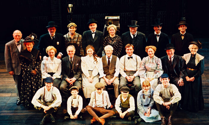 """The cast of the 2003 Broadway revival of Thorton Wilder's """"Our Town,"""" a play that highlights element of Natural Theatre. (Joan Marcus/Getty Images)"""