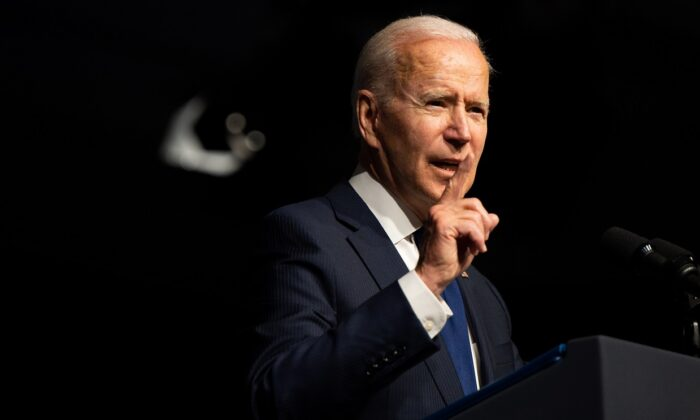 President Joe Biden speaks at a rally during commemorations of the 100th anniversary of the Tulsa Race Massacre in Tulsa, Oklahoma, on June 1, 2021. (Brandon Bell/Getty Images)