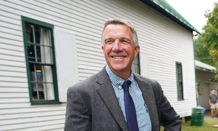 Vermont Gov. Phil Scott poses at the Tunbridge World's Fair in Tunbridge, Vt., on Sept. 14, 2018. (Don Emmert/AFP via Getty Images)